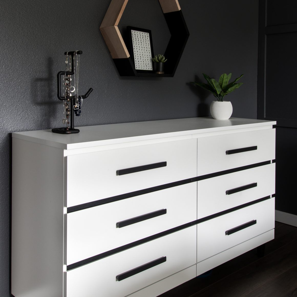 Before & After IKEA Malm Dresser Makeover (With images
