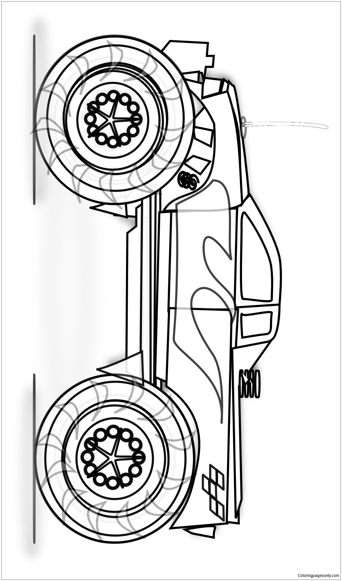 Easy Monster Truck Coloring Page This Is Monster Truck