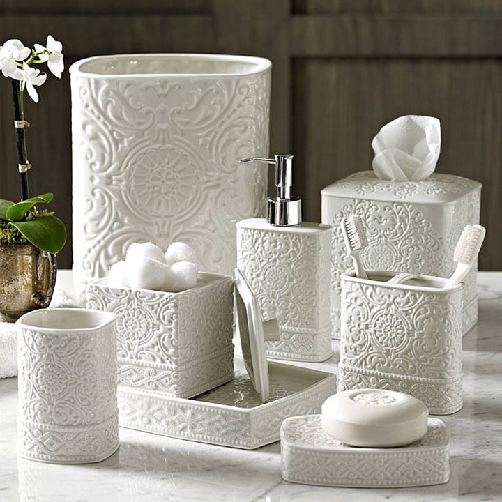trump home bedminster damask porcelain bath accessories gracious style