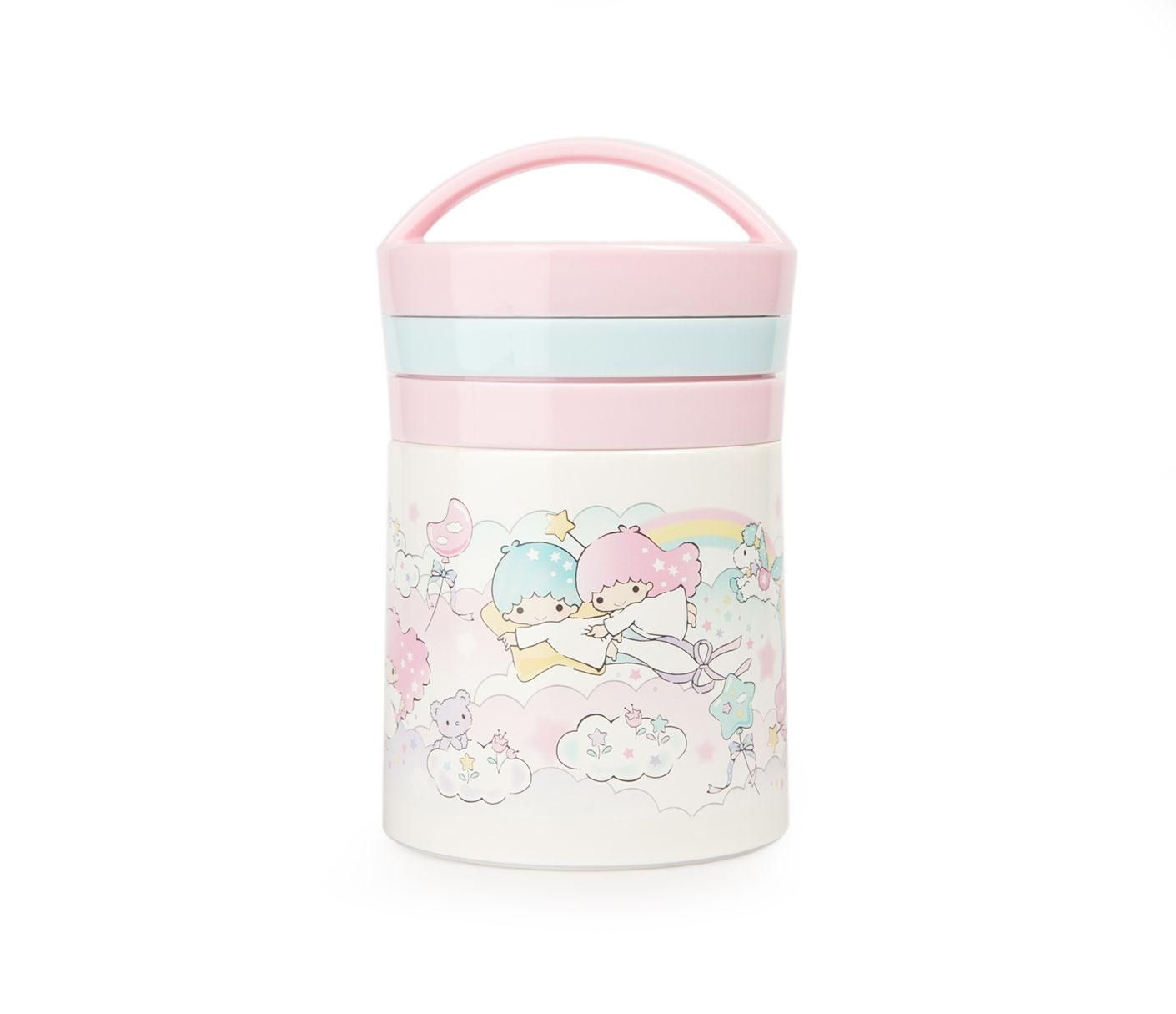 Little Twin Stars Stainless Steel Food Jar with Spoon: Cloud