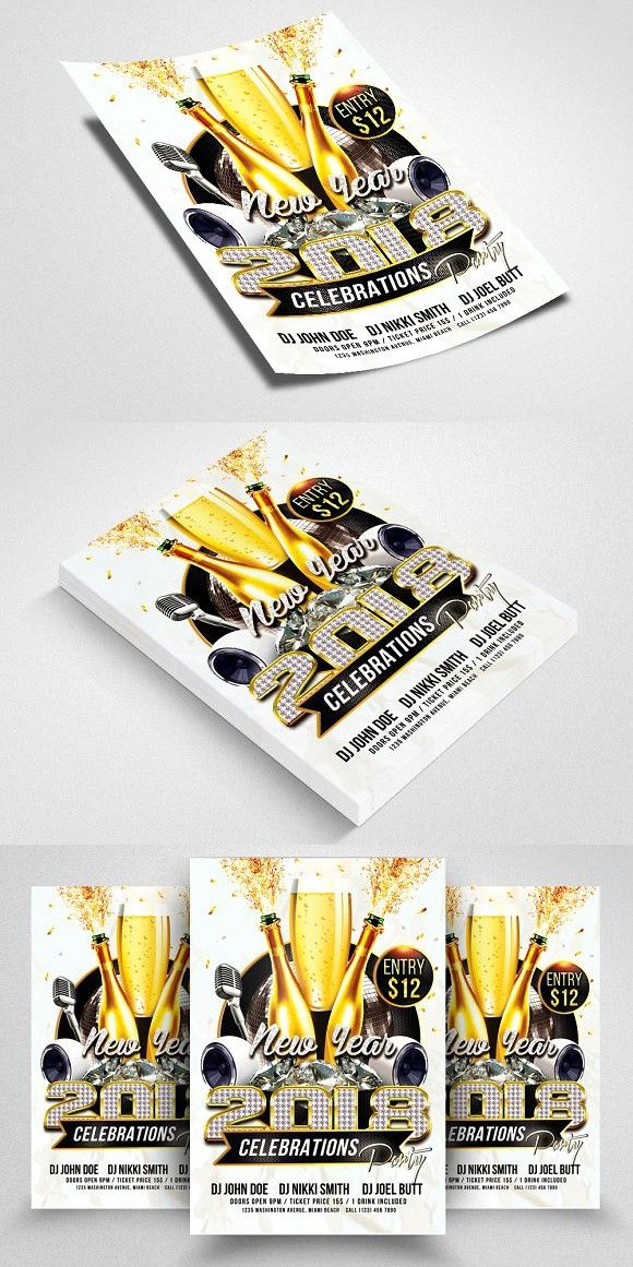 Happy New Year Flyer | Flyer template, Business flyer templates and ...