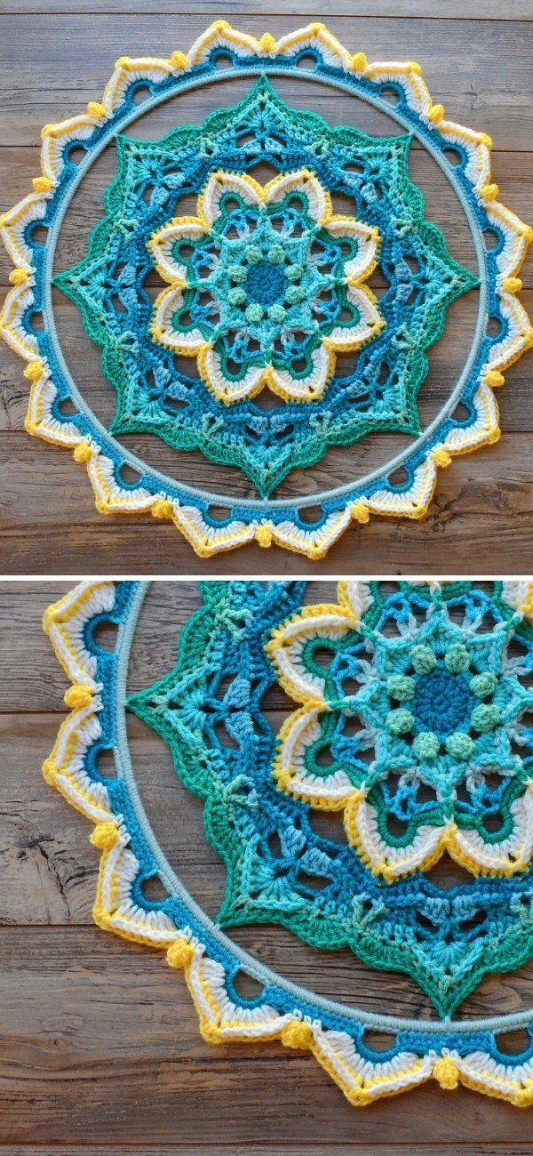 Great Decorative Mandalas #crochetmandalapattern