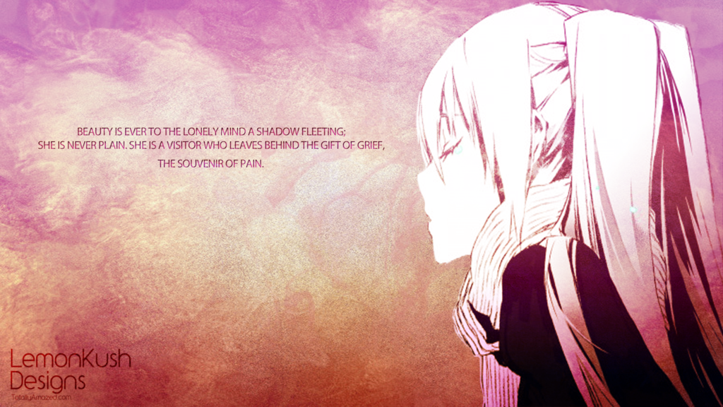 anime quotes about loneliness wallpaper