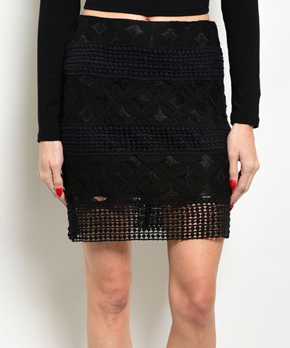 Black Lace Overlay