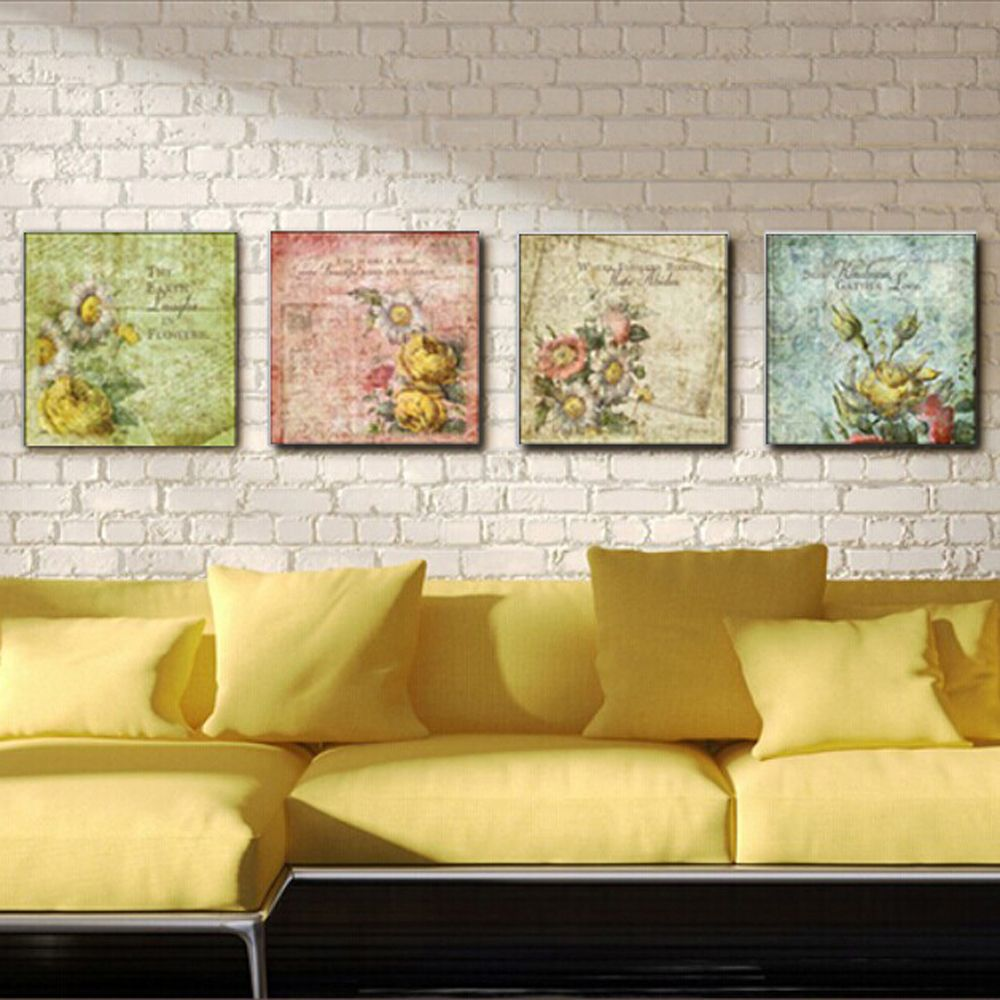 4pieces flowers modern huge canvas painting wall pictures for living cheap pictures of landscape paintings buy quality picture famous painting directly from china picture frames by mail suppliers flowers modern huge canvas izmirmasajfo