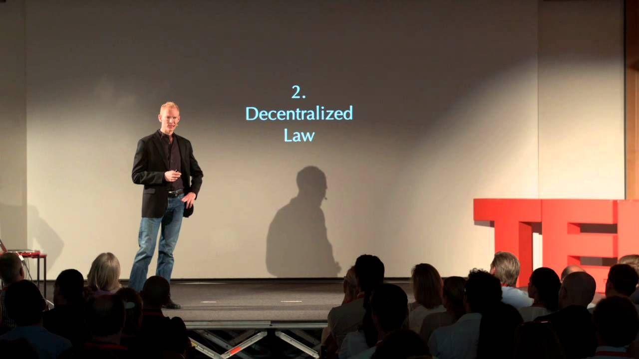 The Four Pillars Of A Decentralized Society Johann Gevers Tedxzug Here It Is Folks Freedom Society Social Transformation Self Organization