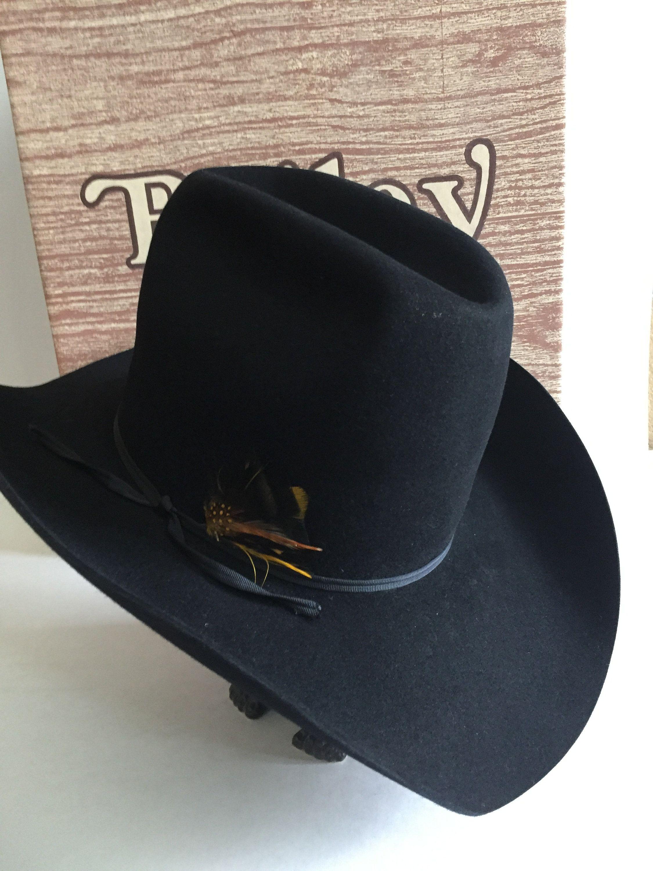 Bailey Regal Black Felt Cowboy Hat Box And Bag Etsy Felt Cowboy Hats Cowboy Hats Black Felt