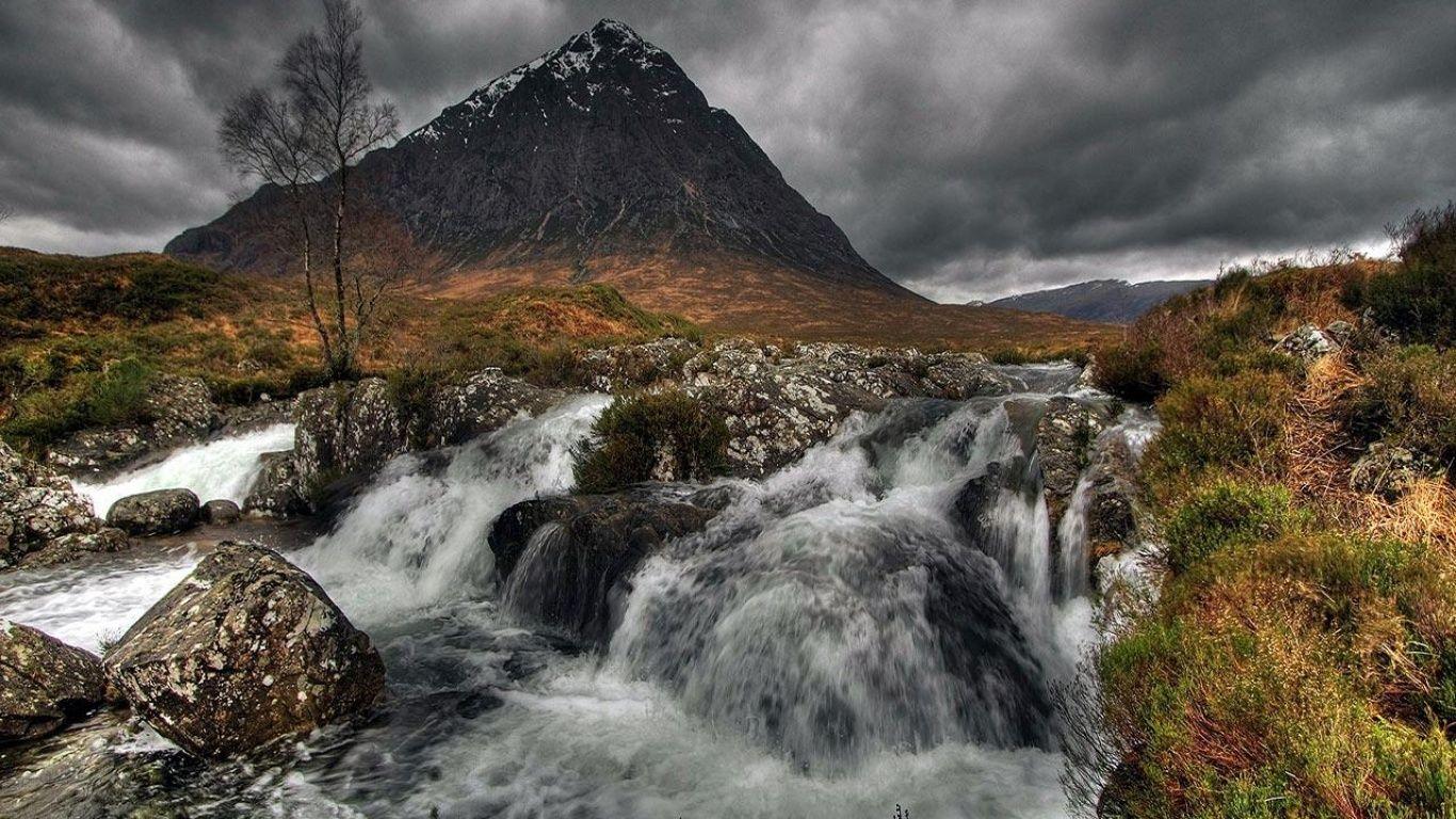 Glen Etive Scotland photographer unknown[1366x768]