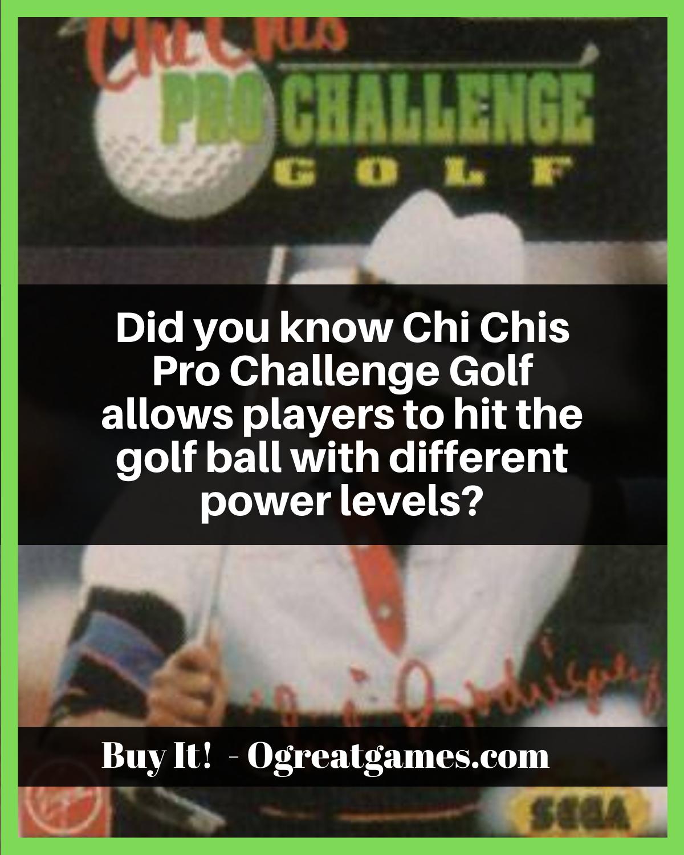 25++ Chi chis golf info
