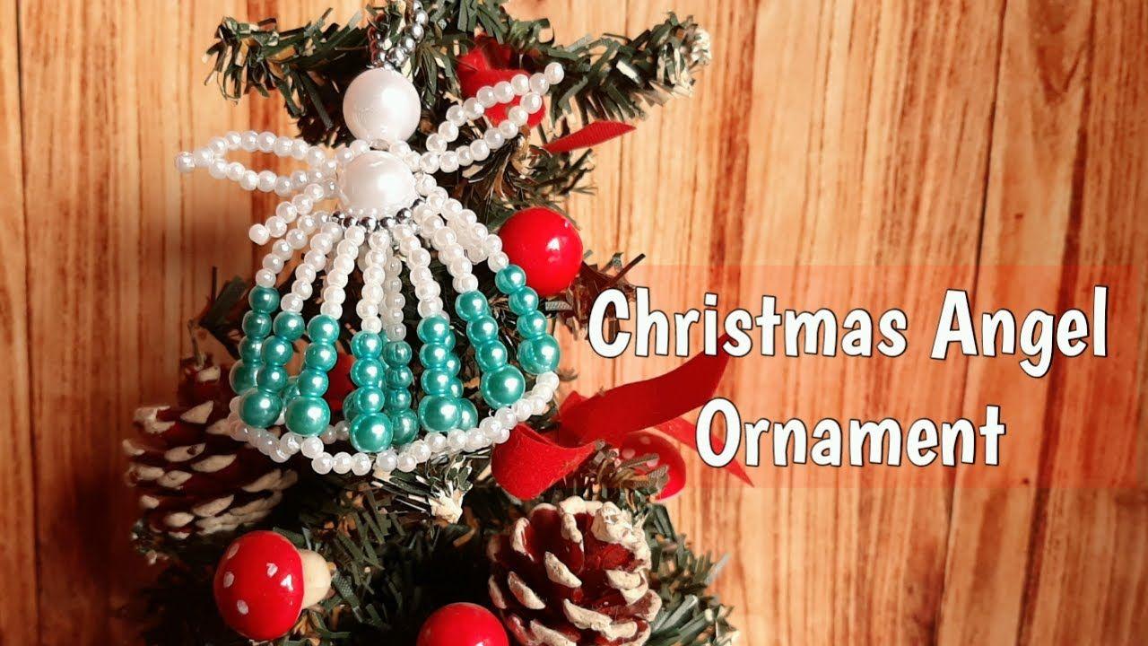 Beaded Christmas Angel Ornament 2020 Very Easy Keychain Hiasan Natal Malaikat Dari Manik Manik Youtube Manik Manik Perhiasan Natal Hiasan