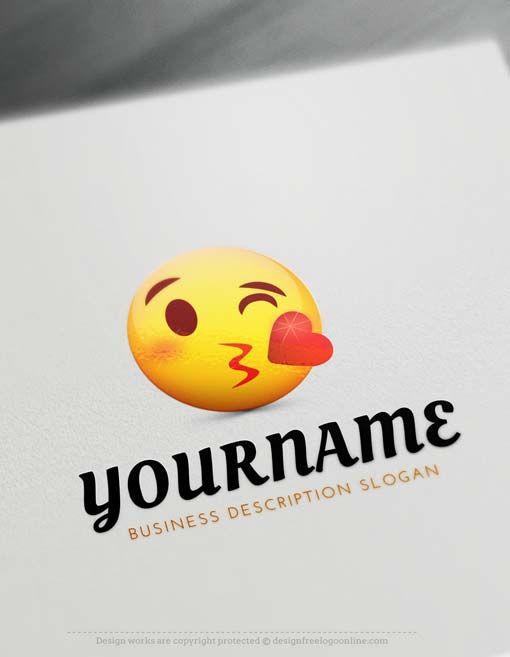 Create ? Free Emoji Blowing Kiss Logo with Online Logos
