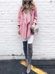 5b65fa668f7 Goodnight Macaroon presents the  Carina  Taupe Over The Knee Suede Leather  Boots. Also available in Black