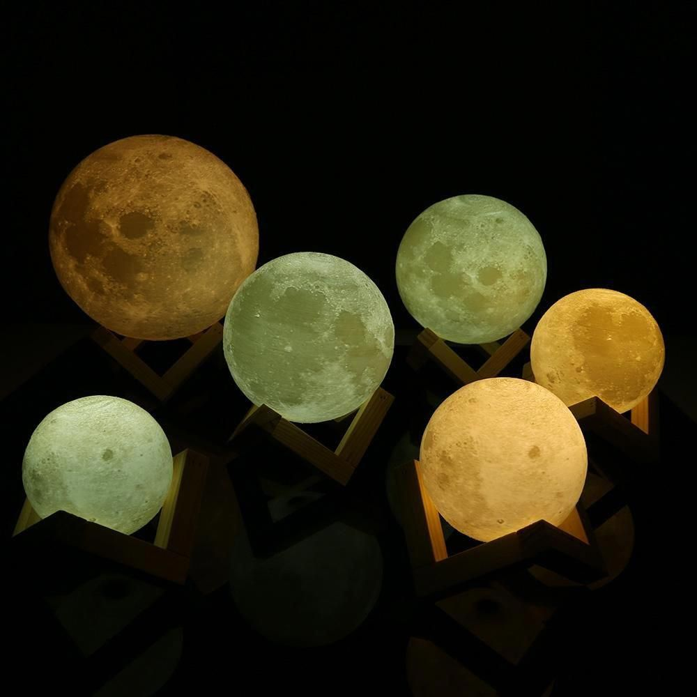 Add An Enchanting Moon Lit Glow To Any Room Of Your Home With These Awesome Mystical Lunar Lamps Each Ligh Led Night Light Night Light Lamp Rechargeable Lamp