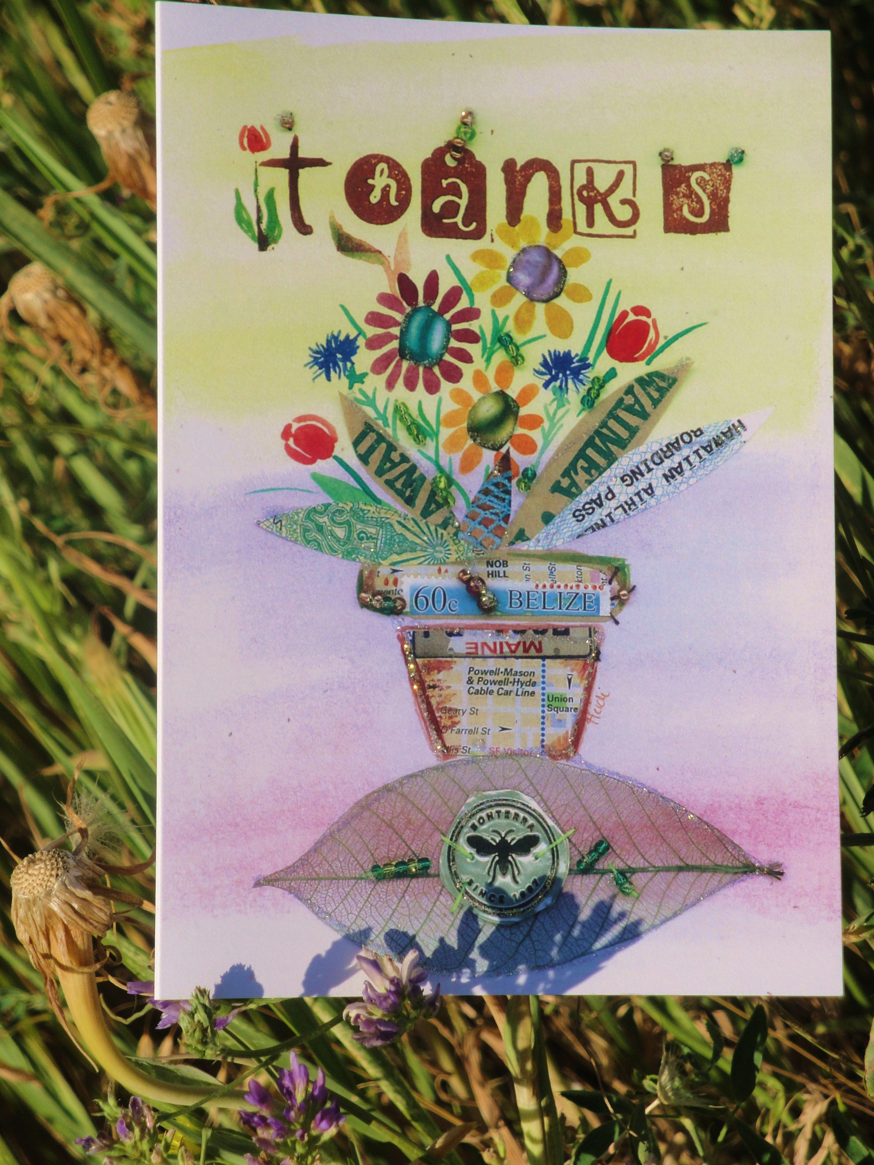 Thanks! A flower pot of fun by Chique Lixo.