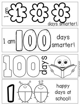 Are You Celebrating The 100th Hundredth Day Of School We Are Too This Free Printable Gives Yo School Bookmarks 100 Days Of School Elementary School Library