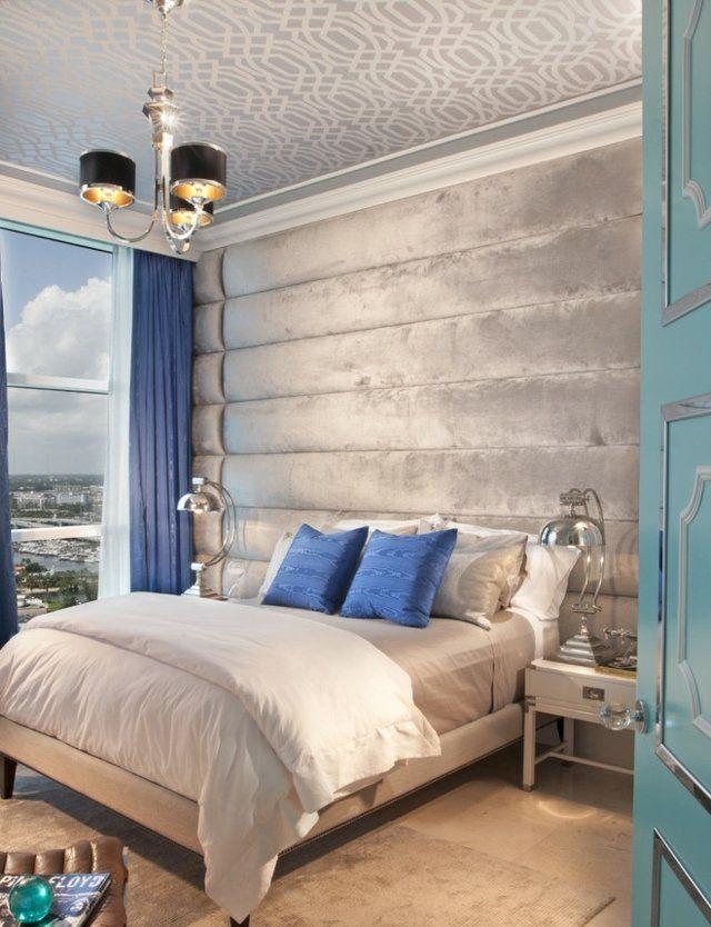 Wand Mit Stoff Bespannen modernes schlafzimmer deko ideen stoff living dreams bedroom