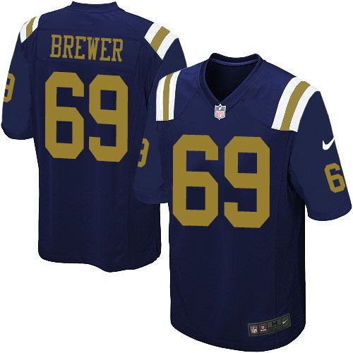 nfl new york jets james brewer youth limited navy blue 69 jerseys