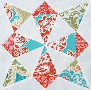 Whirling Star Quilt Block from Fresh Lemons Quilts | Digital ... : nautical star quilt pattern - Adamdwight.com
