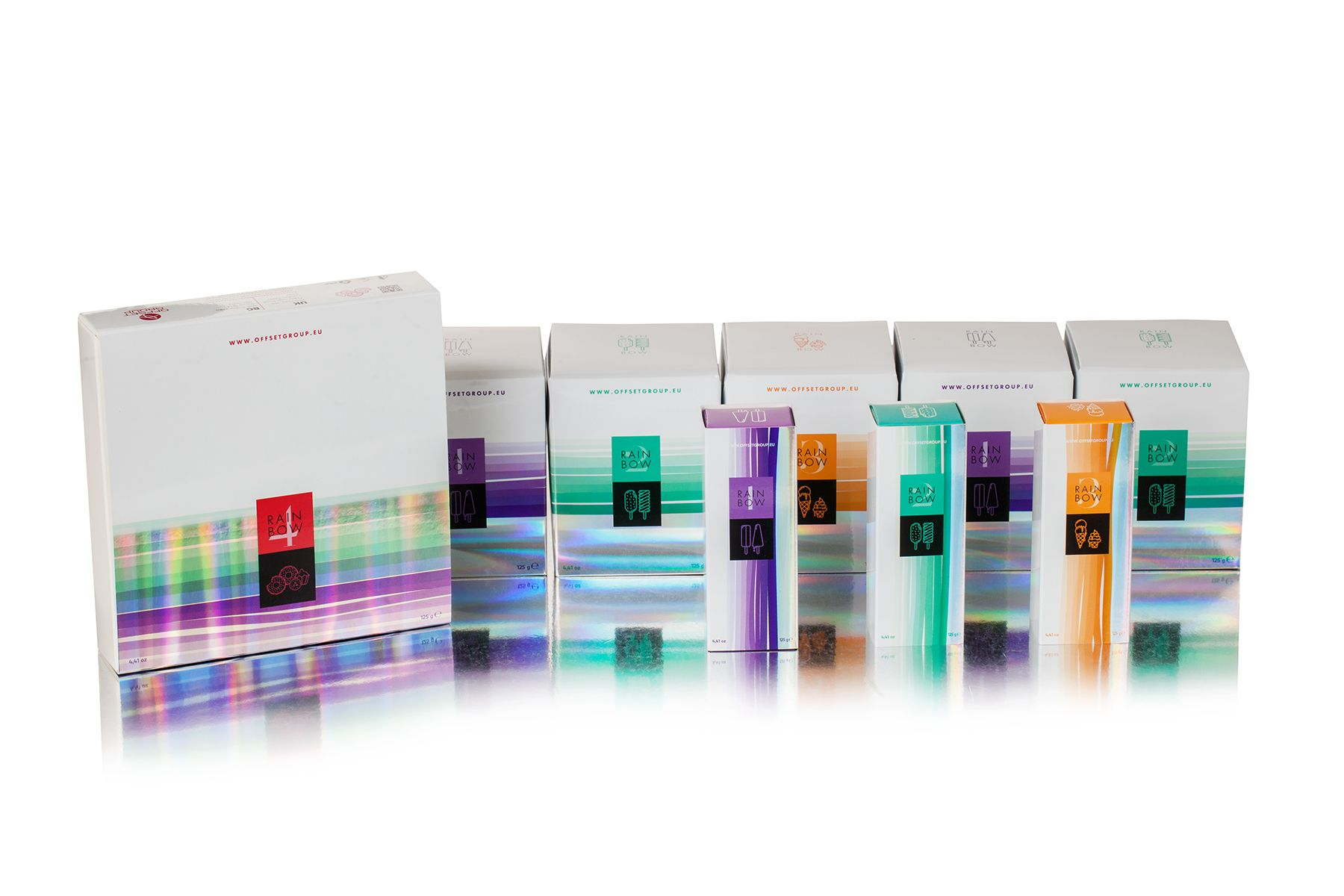 Creative holographic packaging by offset group