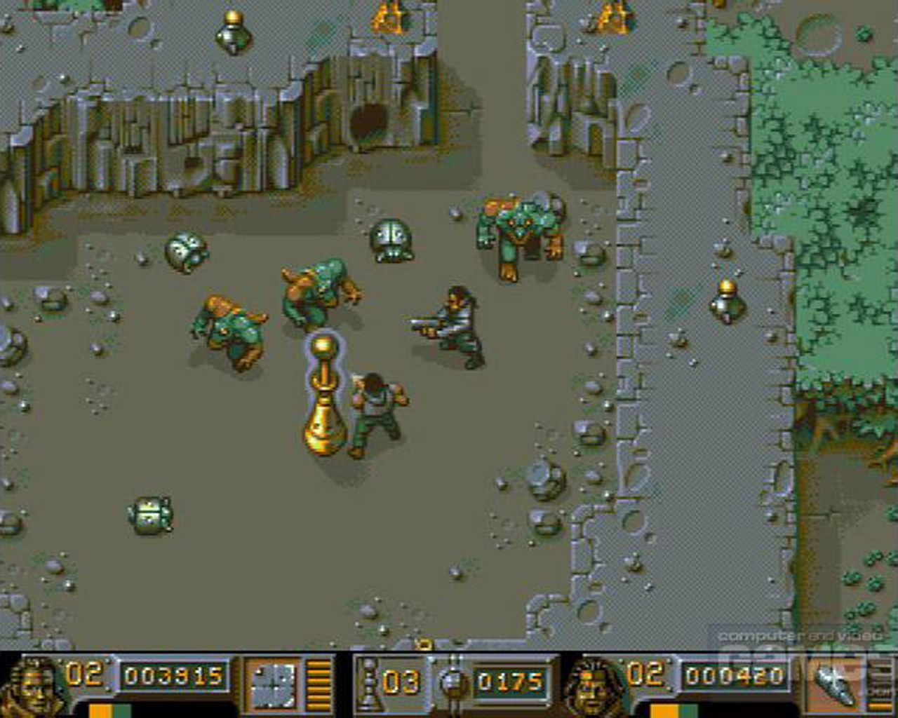 I still love this game. 90's classic. For Amiga, that is... Bitmap Brothers' Chaos Engine.