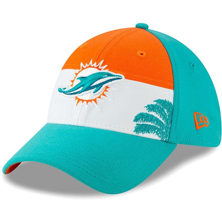 reputable site 4da17 e1665 Miami Dolphins New Era 2019 NFL Draft On-Stage Official 39THIRTY Flex Hat –  White