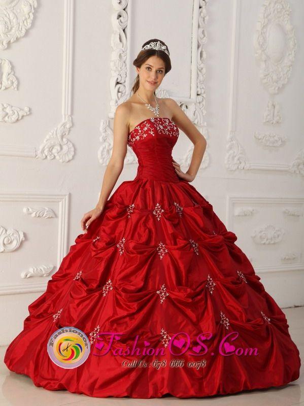 2013 spring Quinceanera Dresses,Malden Elegant Wine Red ...