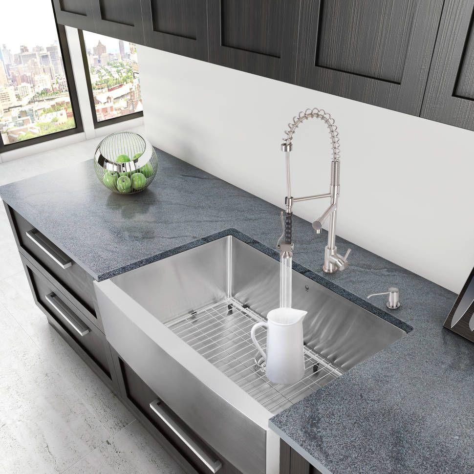 Bedford 36 l x 22 w farmhouseapron kitchen sink with