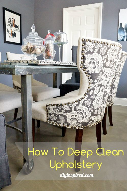 How to Deep Clean Upholstery | Cleaning upholstered ...