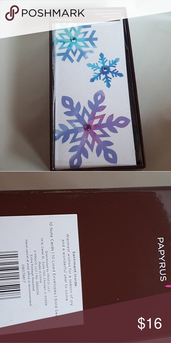 Papyrus Target Exclusive Christmas Cards Snow Flak NWT