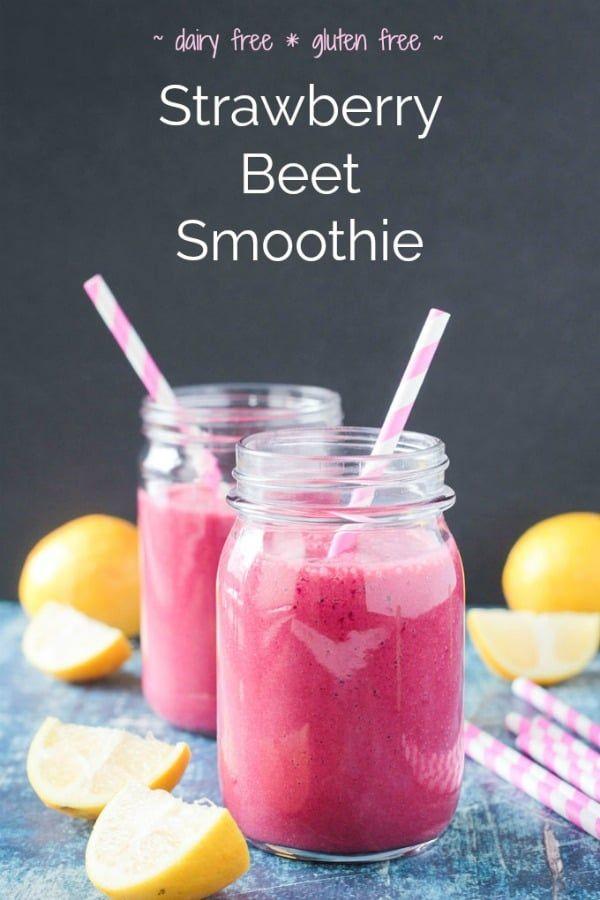 Strawberry Beet Smoothie #dairyfreesmoothie