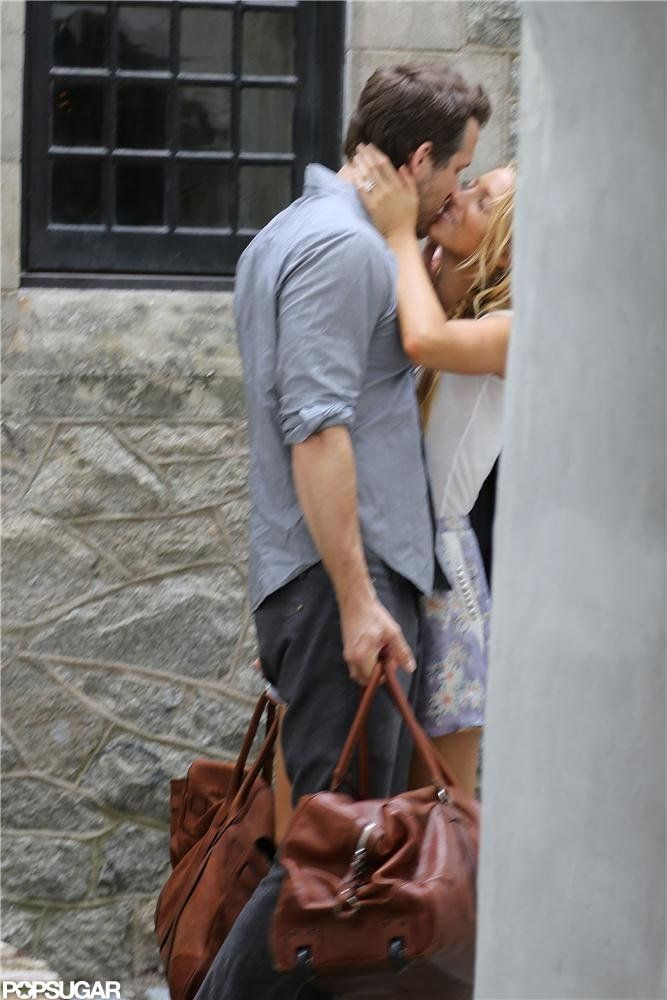 Blake Lively And Ryan Reynolds Share A Kiss
