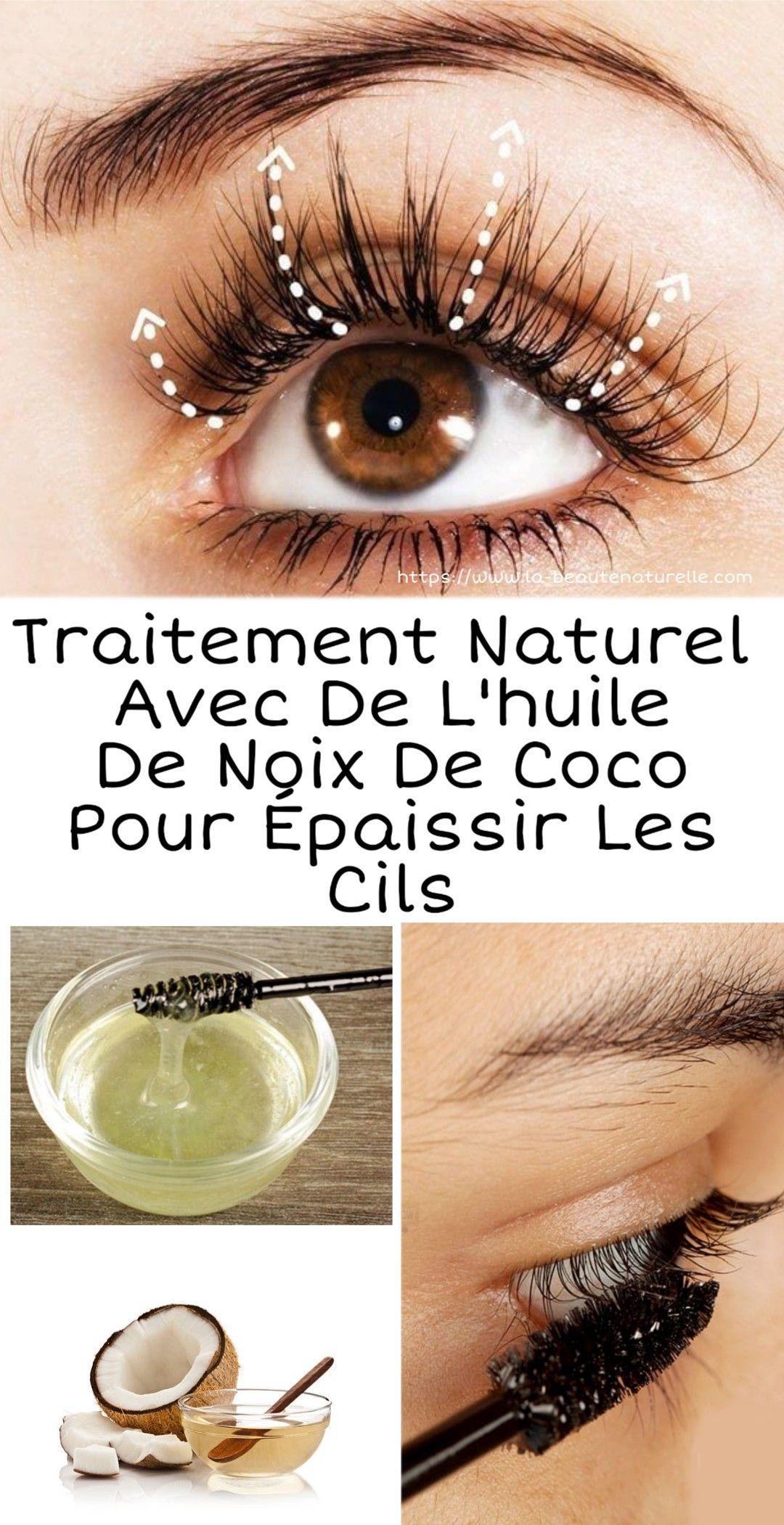 Traitement naturel à l'huile de coco pour épaissir les cils