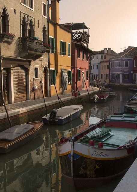 Canal at Sunrise - Burano, Italy