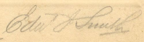 La signatura del capità.