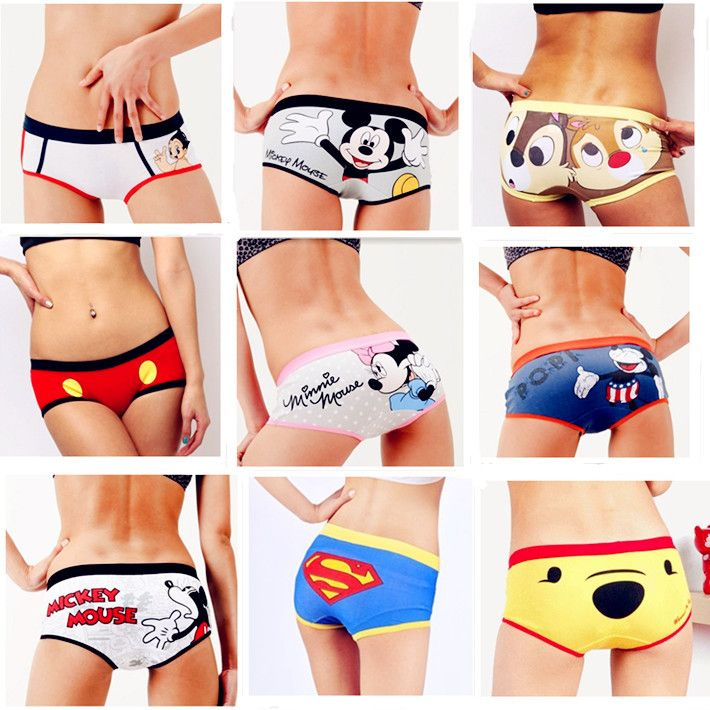 b09f329481dd Painted Printing Cartoon Underwear For Young Girls,Girls Boxer Briefs  Teenagers Bodyshort Panties,Cotton Underwear For Women $5.90