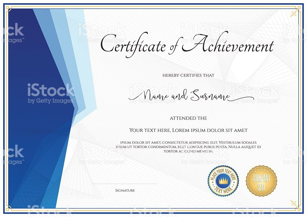 Modern Certificate Template For Achievement Appreciation