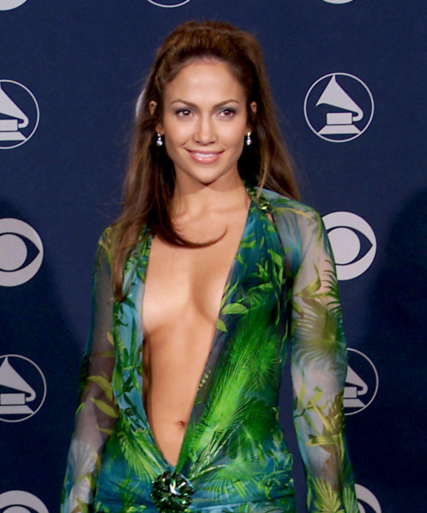 Definitive Proof That Jennifer Lopez Is Aging Backwards Iconic Dresses Grammy Dresses Versace Dress [ 1728 x 1440 Pixel ]