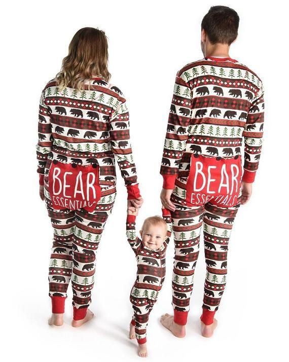 e58d97909e70 Bear Essentials - Lazy One Family Matching Christmas Pj s ...