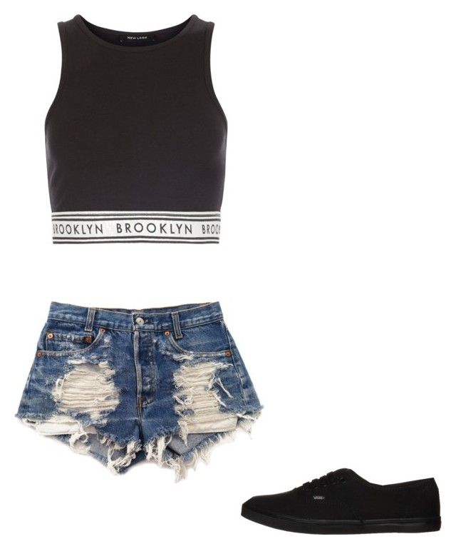 """"""""""" by melodyleighmitchell on Polyvore featuring New Look, Levi's and Vans"""