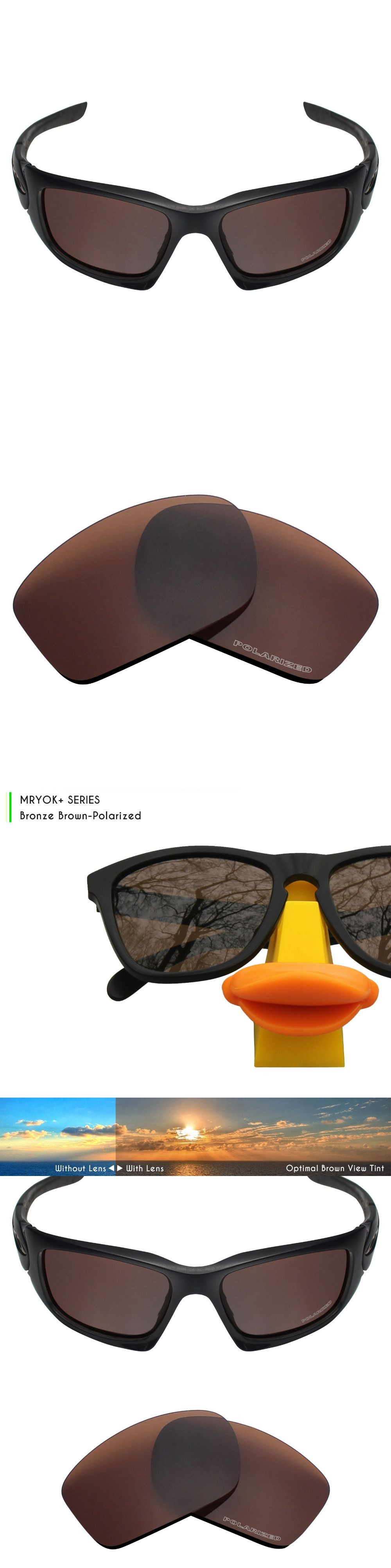 be77331157691 Mryok+ POLARIZED Resist SeaWater Replacement Lenses for Oakley Scalpel  Sunglasses Bronze Brown