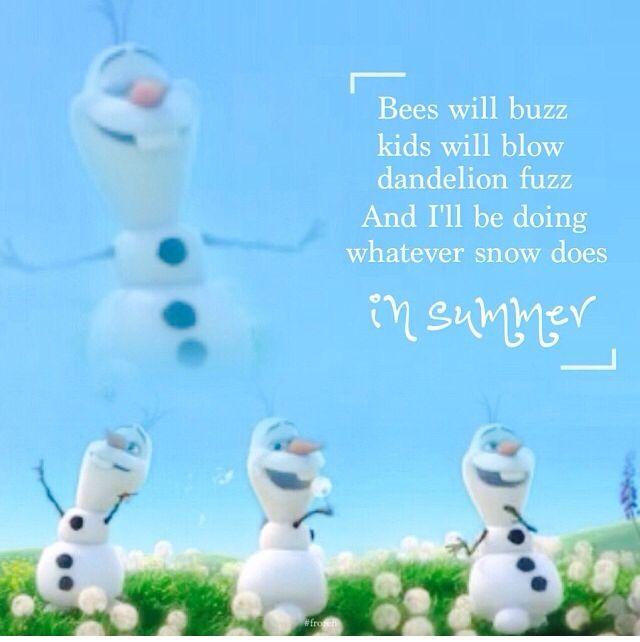 OLAF : Frozen In Summer lyrics