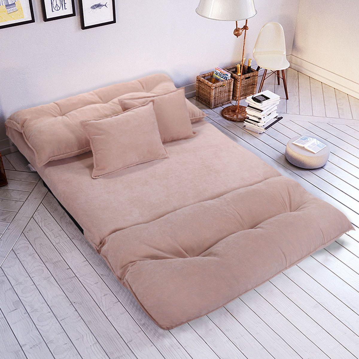 98 49 New Adjustable Floor Sofa Bed Lounge Sofa Bed Floor Couch With Pillows Adjustable Lounge Pillows Di Sofa Bed Sale Floor Couch Modern Sofa Bed