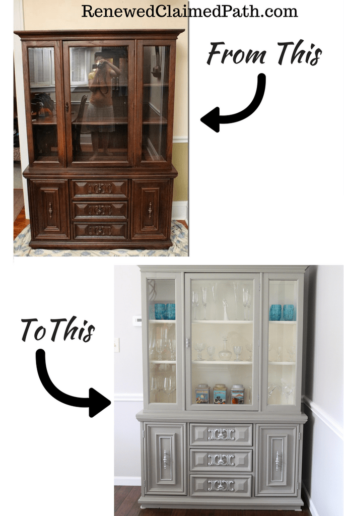 Best China Cabinet Redo With Chalk Paint Painted China 400 x 300