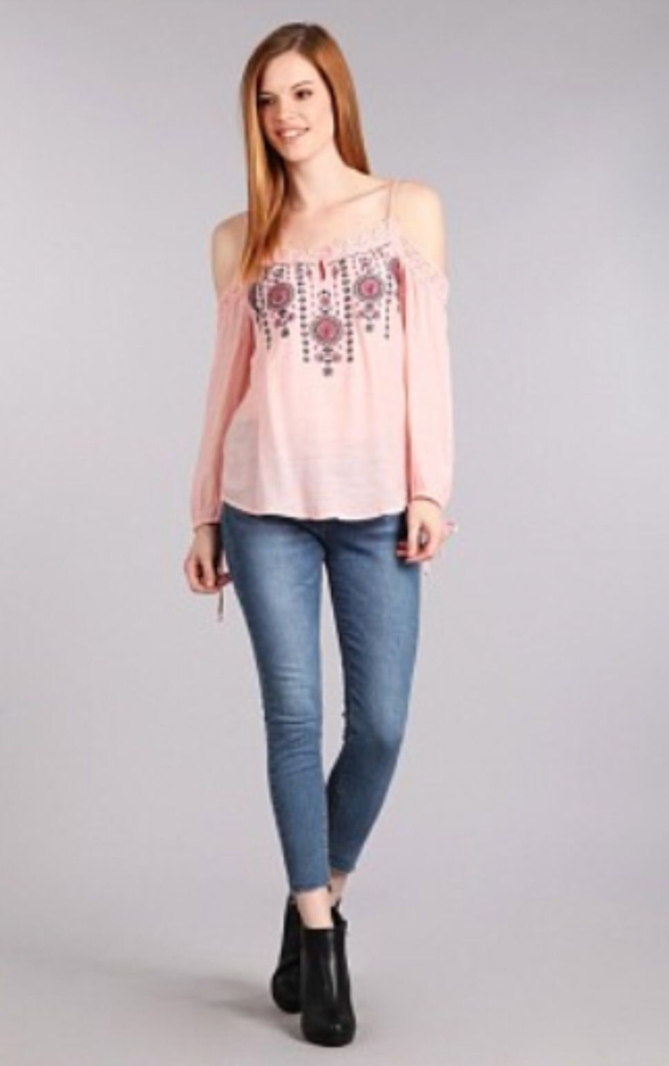 ac58d52e8db919 IRELAND EMBROIDERED COLD-SHOULDER LACE TOP