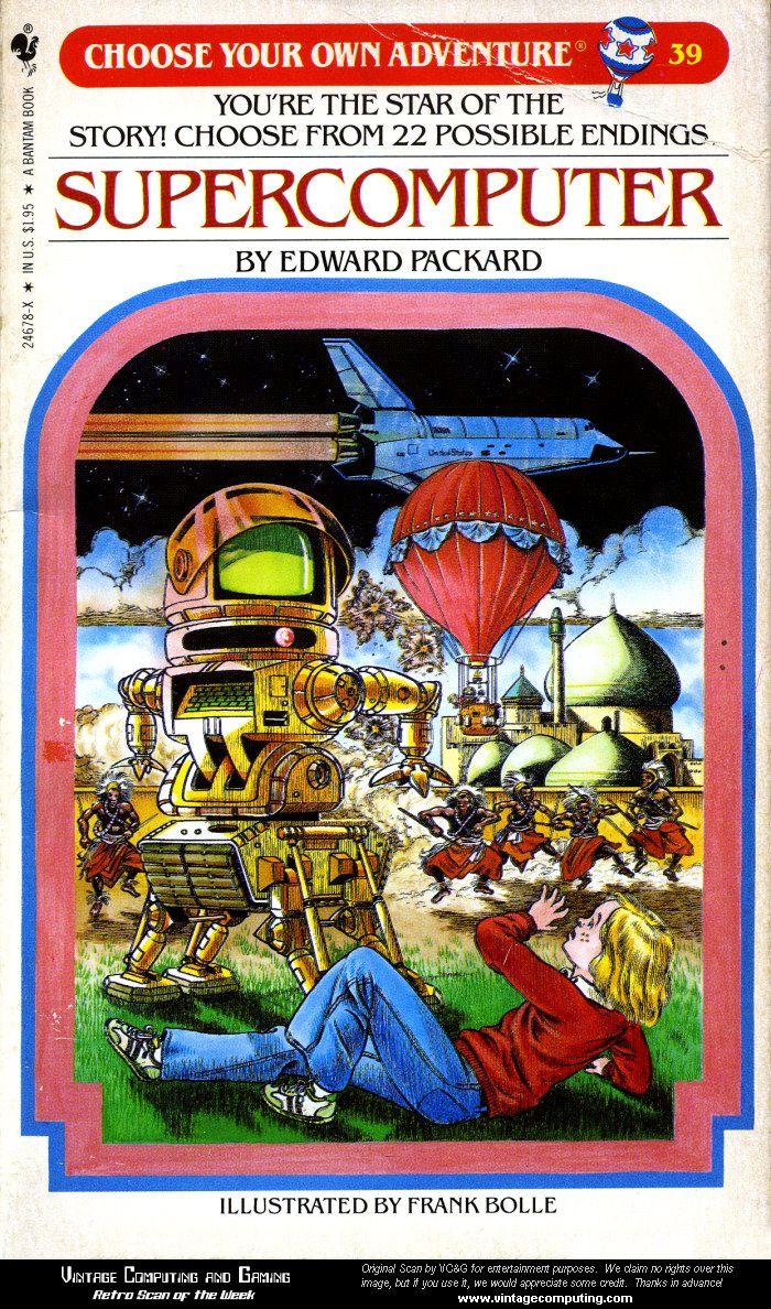 ChooseYourOwnAdventure Supercomputer by Edward Packard Retro
