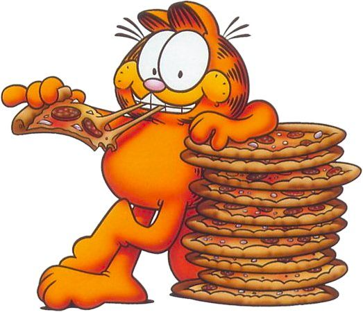 It S Garfield S Birthday Today And He Loves Pizza Celebrate By Eating Pizza In Honor Of This Kitty Today Garfield Garfield And Odie Garfield Birthday