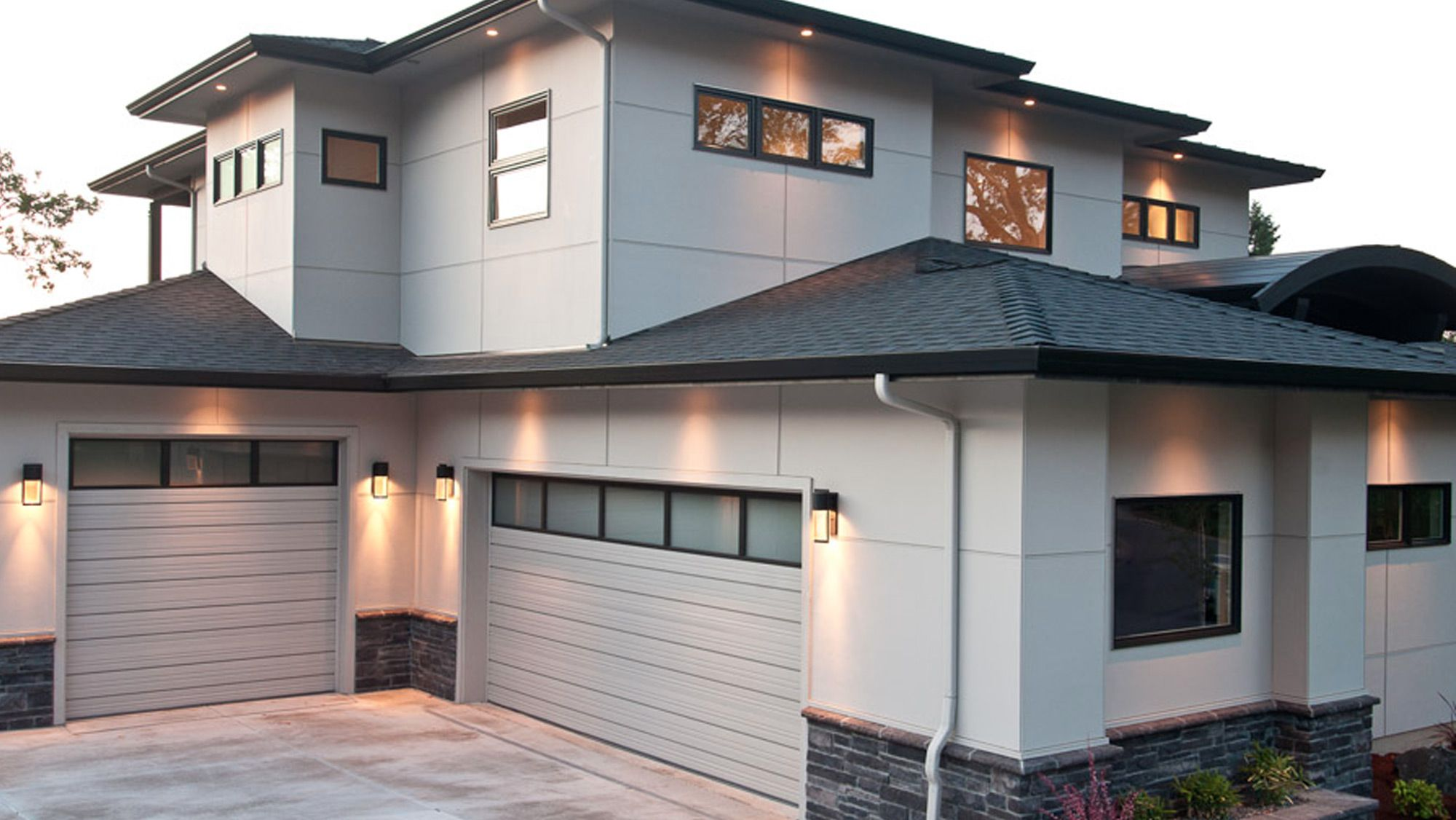 Fiber Cement Siding Panel Single Family Gallery Xtremetrim Contemporary House Exterior House Cladding House Siding