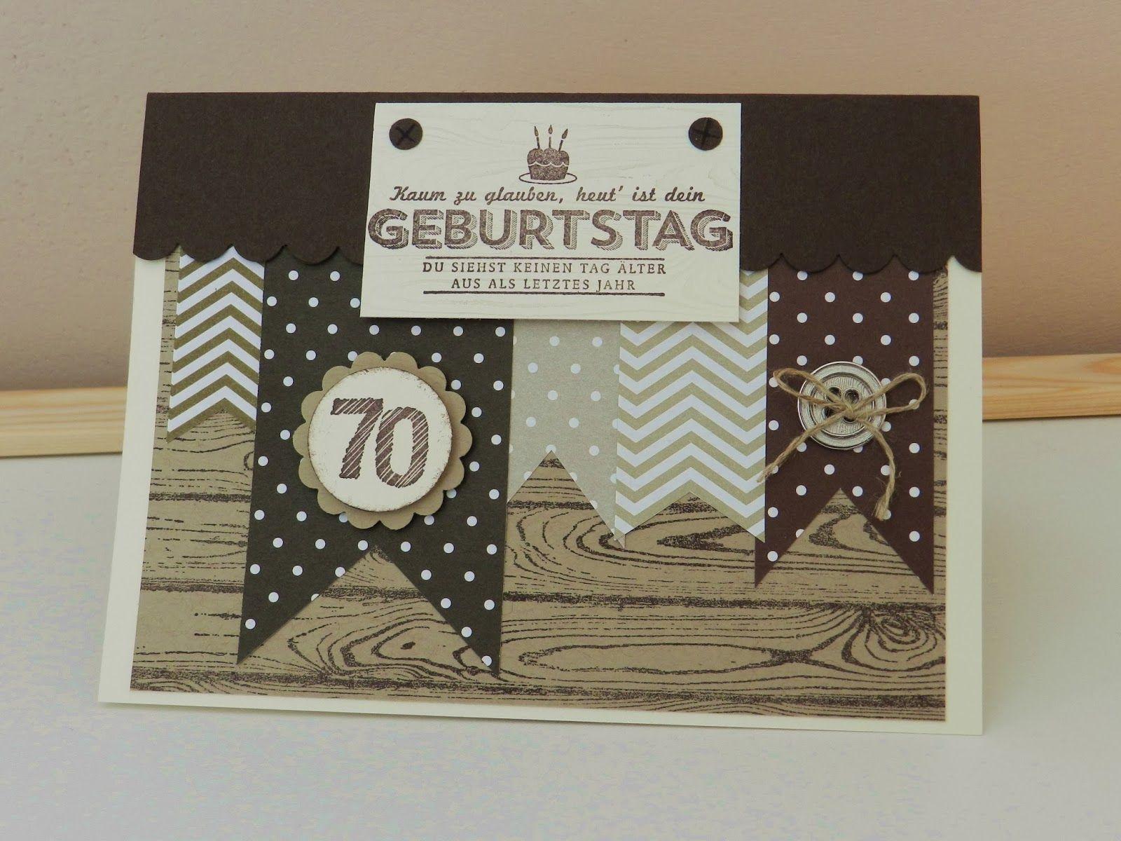 Stampin up pop up karte mit f hnchen und hardwood stempel for Einladung 70 geburtstag basteln