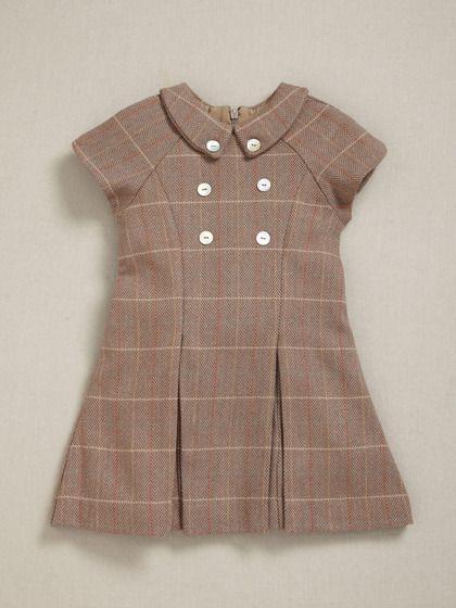 Wool schoolgirl dress