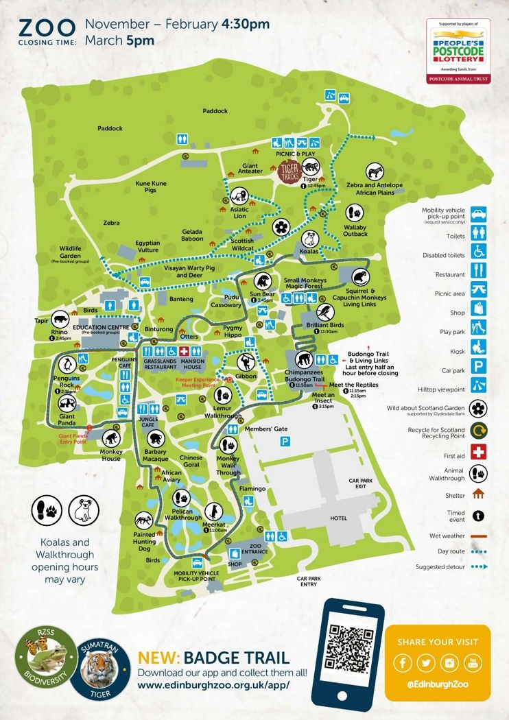 Edinburgh Zoo map Maps Pinterest Edinburgh and City